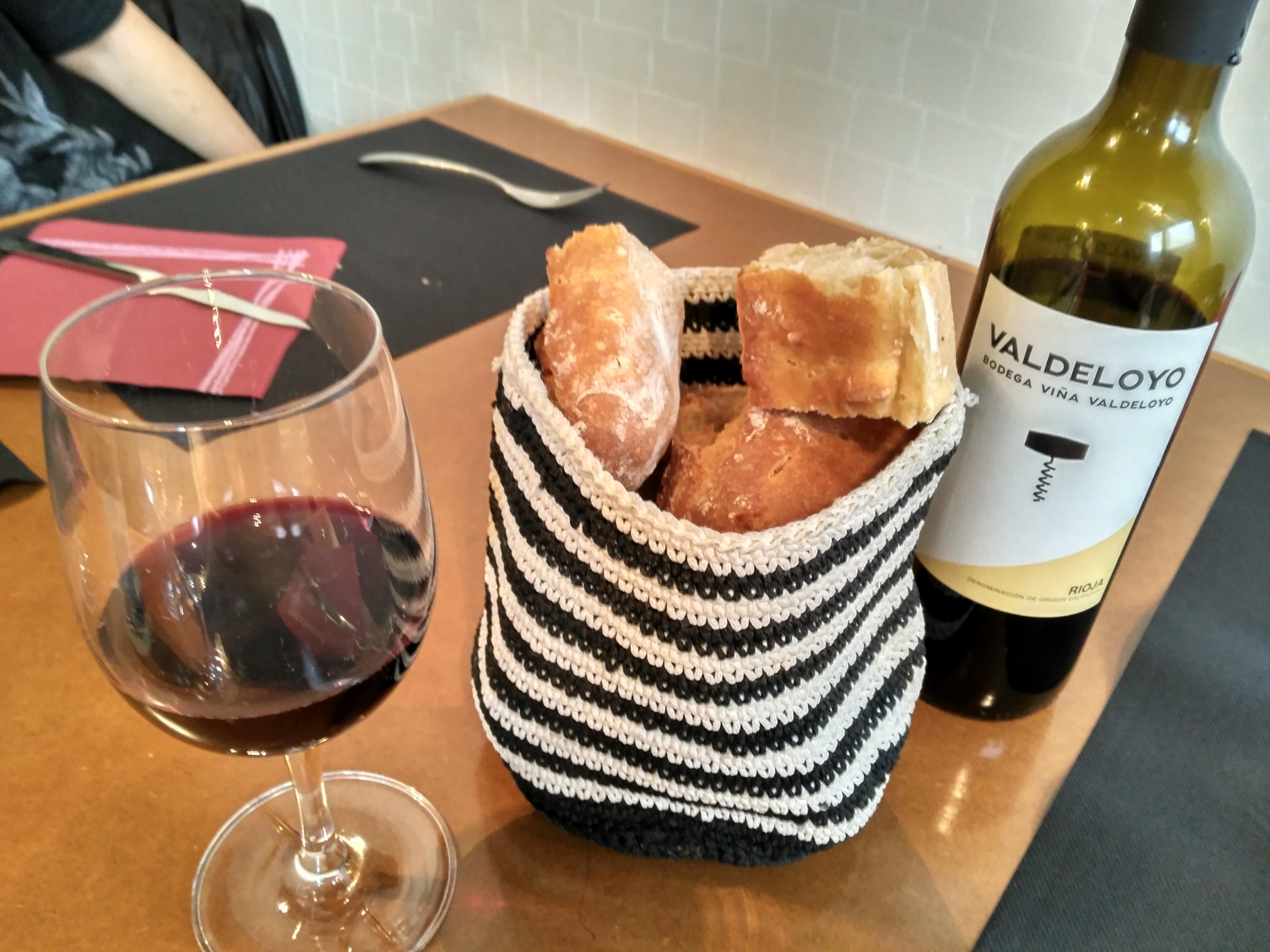 Pan y vino La Viña de San Francisco Bilbao